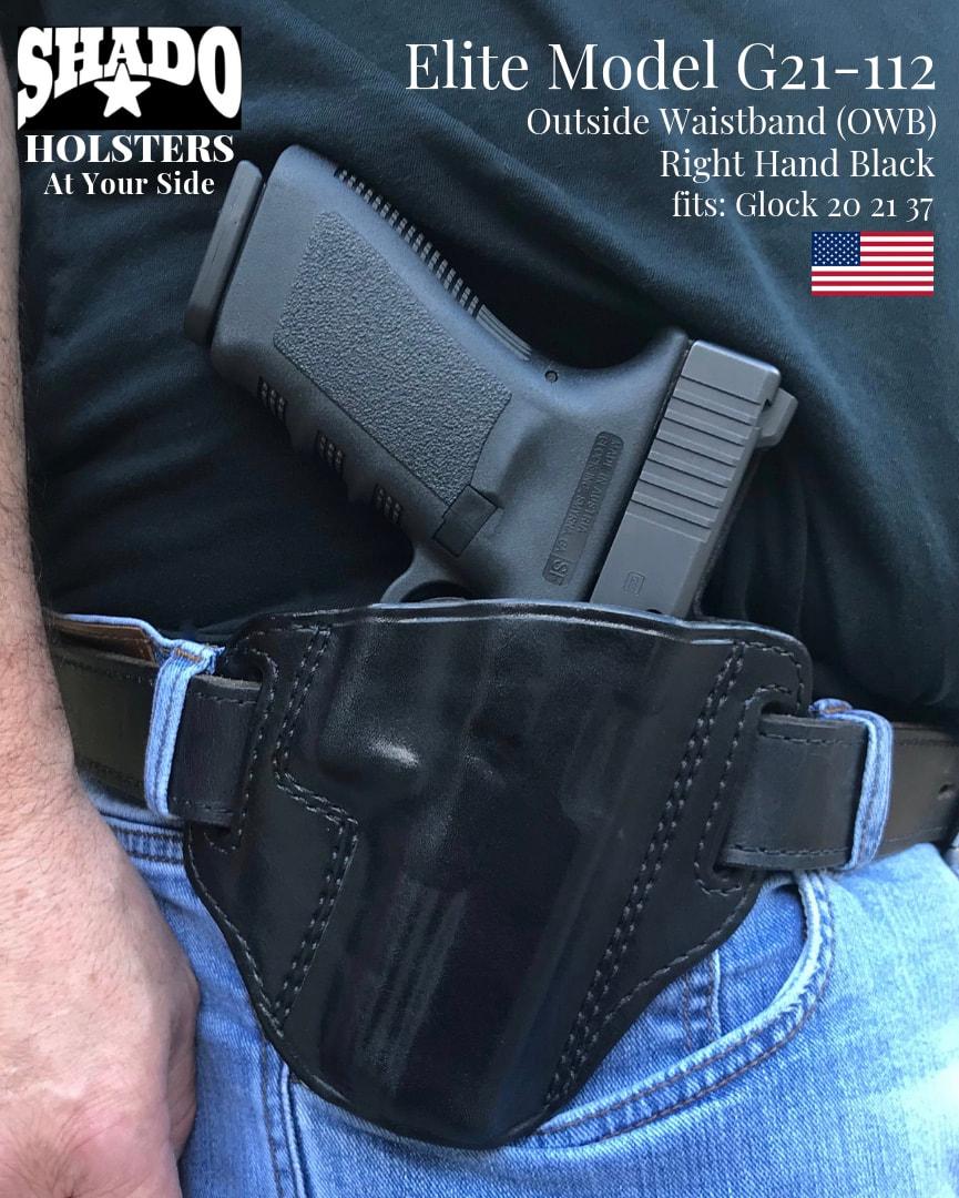 SHADO Leather Holster Elite Model G21-112 Right Hand Black